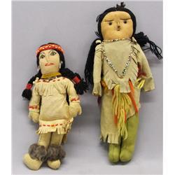 2 Vintage Native American Dolls