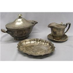 Early 1900s Silver Plate & Silver Serving Pieces