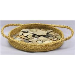 Pine Needle Basket With 10+ Authentic Arrow Heads