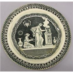 1770-1790 Black Transfer Soft Paste French Plate