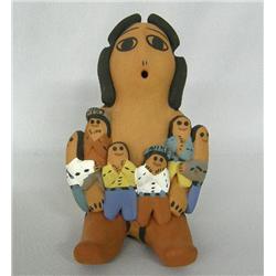 Navajo Storyteller Pottery By Eva Betone