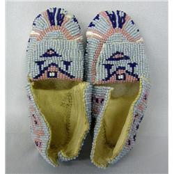 Pr Native American Beaded Baby Moccasins