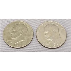 2 1974 Eisenhower Copper Nickel Clad