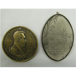 2 Replication Early Peace Medals (1793-1829)