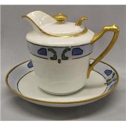 KPM Individual Tea Pot & Plate