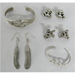 5 Silver Jewelry Items