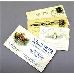 4 Antique Post Cards - 1898, 1908