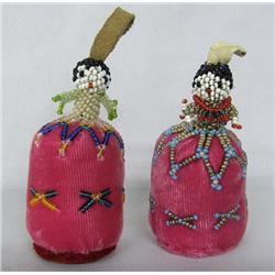 2 Zuni Beaded Doll Pin Cushions