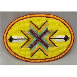 Large Plains Indian Beaded Belt Buckle