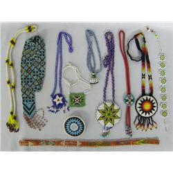10 Vintage Native American Beaded Necklaces