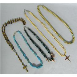 5 Zuni & Southwest Necklaces Turquoise Coral