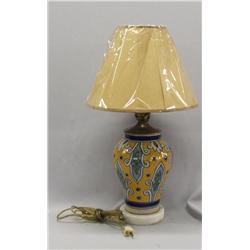 Vintage Talavera Pueblo Vase Lamp