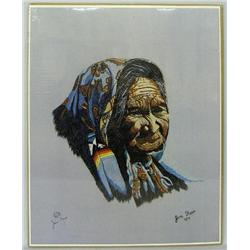 1979 Signed & Numbered Print of Needlework by Foss