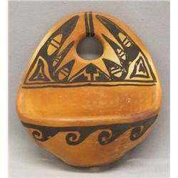 Vintage Hopi Pottery Wall Pocket By Talashie