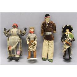 4 Vintage Ethnic Dolls