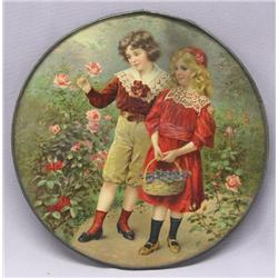 Vintage Print Of Boy & Girl