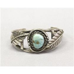 Vintage Navajo Silver Turquoise Bracelet