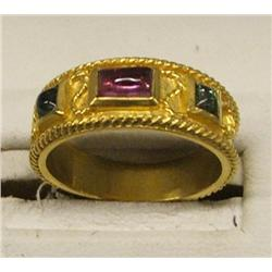14kt Gold & Semi Precious Stone Ring