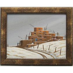 1984 Navajo Original Framed Painting by Yazzie