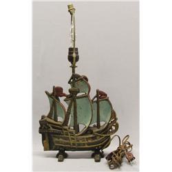 Antique Cast Iron Ship Lamp