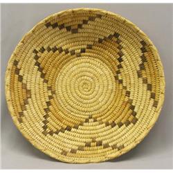 Vintage Papago Polychrome Star Basket
