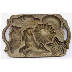 Cast Iron Biscuit Mold Western Items by John Wrigh