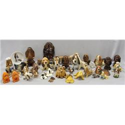 Collection of Dog Statues, Plate, S&P Shakers