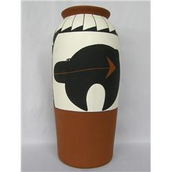 1995 Large Hand Painted Pueblo Pottery Jar