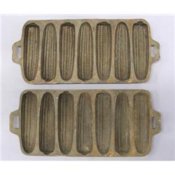 2 Cast Iron Corn Molds