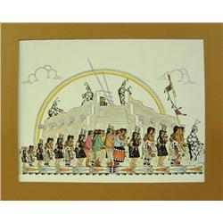 Signed Print San Ildefonso By J.D. Roybal