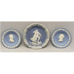 Wedgwood 2 Bust Plates 1 Plaque