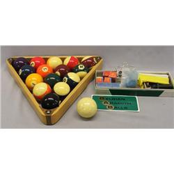 Set Of Belgium Aramith Billiard Balls Plus