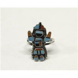 Zuni Inlay Knife Wing Ring