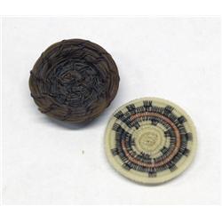 2 Navajo Miniature Baskets