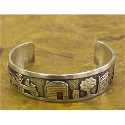 Navajo Silver Story Teller Bracelet