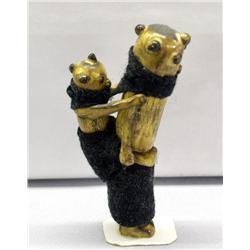 Hopi Mudhead Carved Horn Sculpture