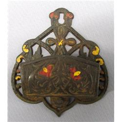 Vintage Cast Iron Matches Wall Safe