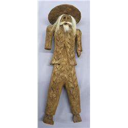 Vintage Tarahumara Carved Wood Doll