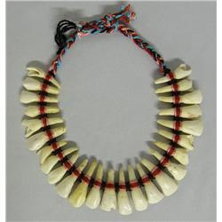 Vintage Pueblo Bovine Tooth Choker