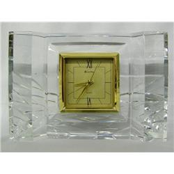 Bulova Lead Crystal Clock