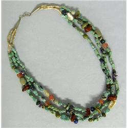 Santo Domingo 3 Strand Necklace By L A Garcia