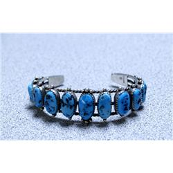 Navajo Silver Turquoise Bracelet By Baily Nelson