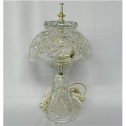 Vintage Pressed Glass Lamp