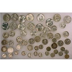 12 DOLLARS FACE VALUE IN US SILVER COINS - 90%  19