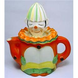 VINTAGE CLOWN JUICE PITCHER W/ REAMER LID - Marked