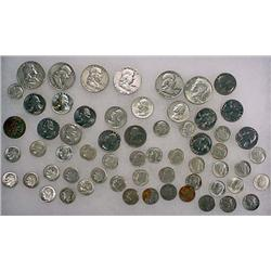 11DOLLARS FACE VALUE IN US SILVER COINS - 90%  196