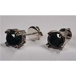 PAIR OF 18KT WHITE GOLD DIAMOND EARRINGS - Comes w