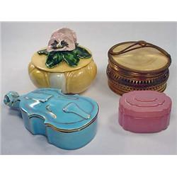 LOT OF 4 VINTAGE POWDER BOXES - Incl. Figural, Mar