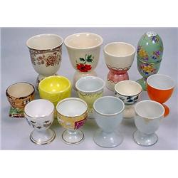 LOT OF 13 VINTAGE EGG CUPS - Incl. Poss. Czech, Ge