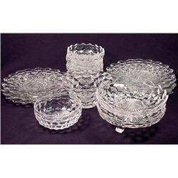 LARGE LOT OF FOSTORIA GLASSWARE - Plates and Bowls